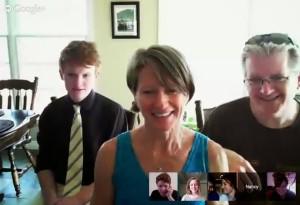 Easter Skype photo 2014